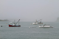 Lobster Boats In Mooring Field