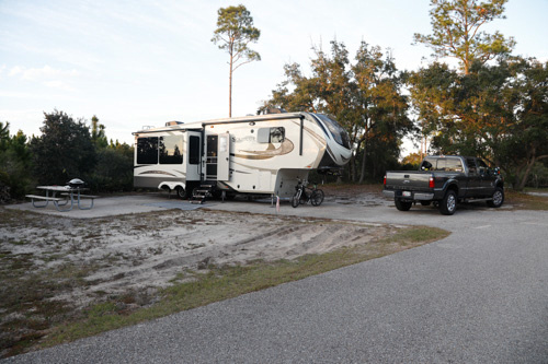 Gulf Shore Camp Site in Alabama